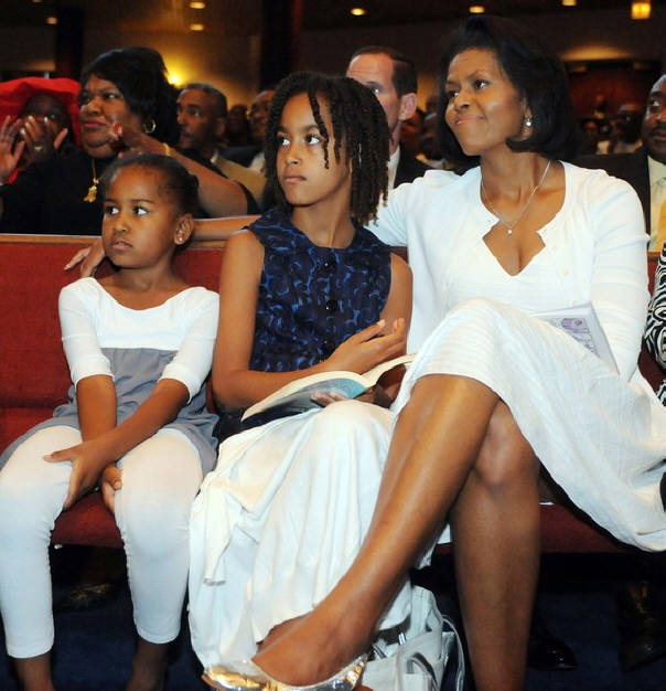 Malia obama hair first lady michelle obama sits in church with her daughters malia and sasha malia wears a style similar to locks but this is a twist and this is a pmusecretfo Images